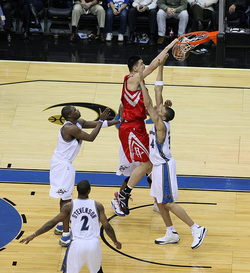 Yao dunks on Wizards