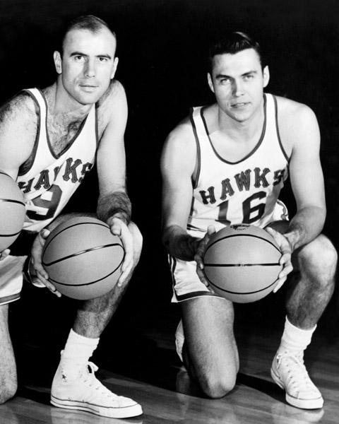 Cliff Hagan (16) and Bob Pettit (9)