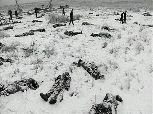 Aftermath of savage massacre by the US Army on unarmed Indians at Wounded Knee
