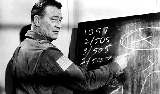 John Wayne doing the math of the longest series (20th Century Fox)