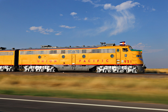Cheyenne Frontier Days Train - Pierce, Colorado by Jerry Huddleston (Flickr)