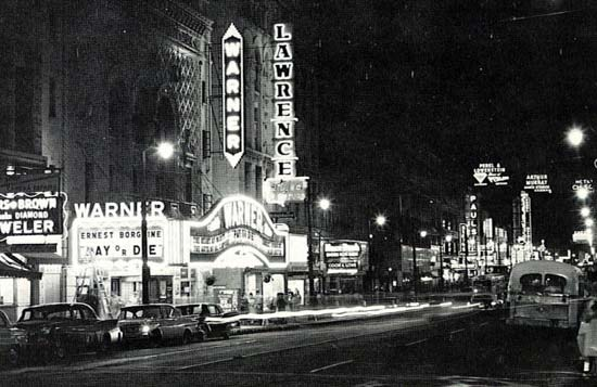 Warner Theatre in downtown Memphis, circa 1963